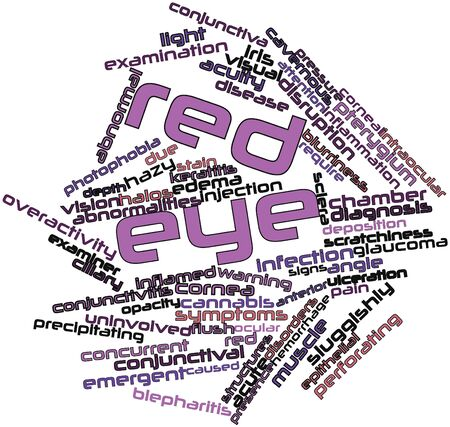 ulceration: Abstract word cloud for Red eye with related tags and terms
