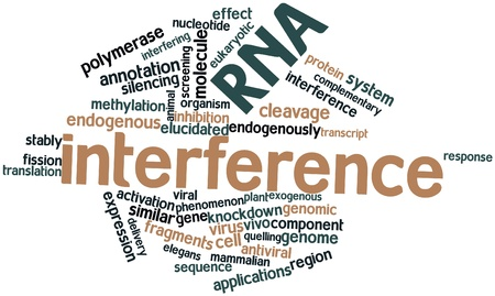 endogenous: Abstract word cloud for RNA interference with related tags and terms