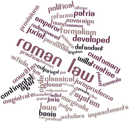 Abstract word cloud for Roman law with related tags and terms Stock Photo - 16738977