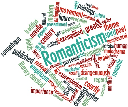 historical romance: Abstract word cloud for Romanticism with related tags and terms