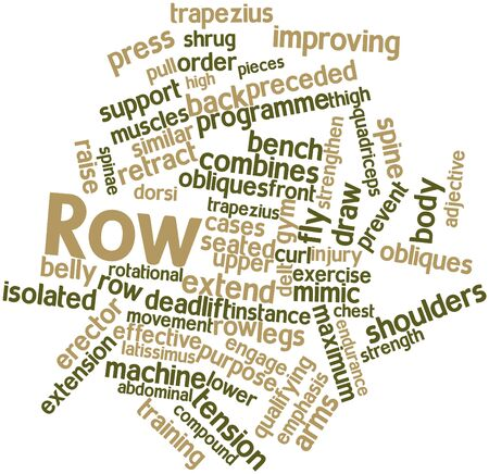 erector: Abstract word cloud for Row with related tags and terms