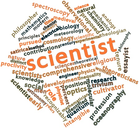 observational: Abstract word cloud for Scientist with related tags and terms