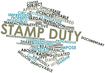 constituting: Abstract word cloud for Stamp duty with related tags and terms