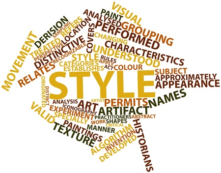 derision: Abstract word cloud for Style with related tags and terms Stock Photo