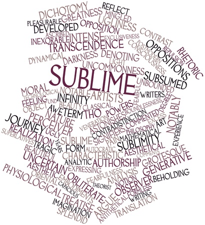 ascribed: Abstract word cloud for Sublime with related tags and terms Stock Photo