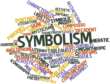 abstract symbolism: Abstract word cloud for Symbolism with related tags and terms Stock Photo
