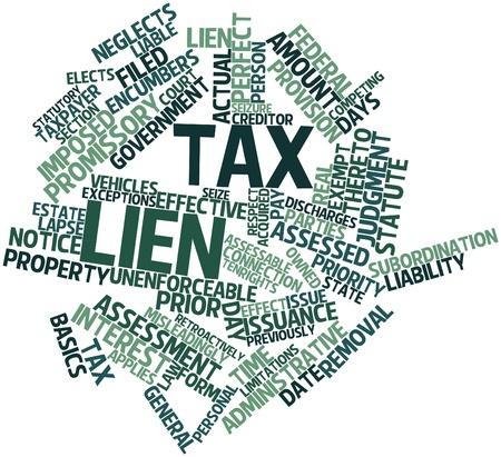 podatnika: Abstract cloud słowo podatku zastawu z pokrewnymi tagów oraz warunków