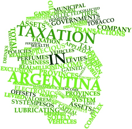 taxation: Abstract word cloud for Taxation in Argentina with related tags and terms