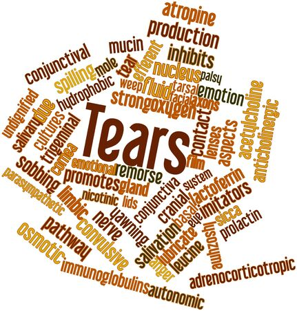 receptors: Abstract word cloud for Tears with related tags and terms Stock Photo