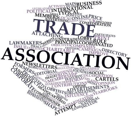 funded: Abstract word cloud for Trade association with related tags and terms
