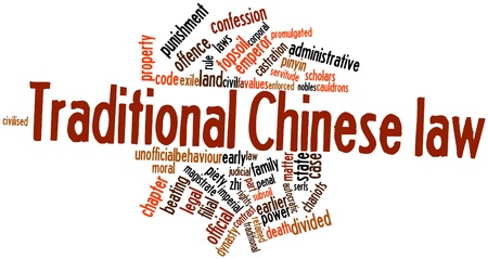 Abstract word cloud for Traditional Chinese law with related tags and terms Stock Photo - 16738937