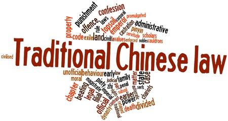 edicto: Nube palabra abstracta por la ley china tradicional con las etiquetas y términos relacionados
