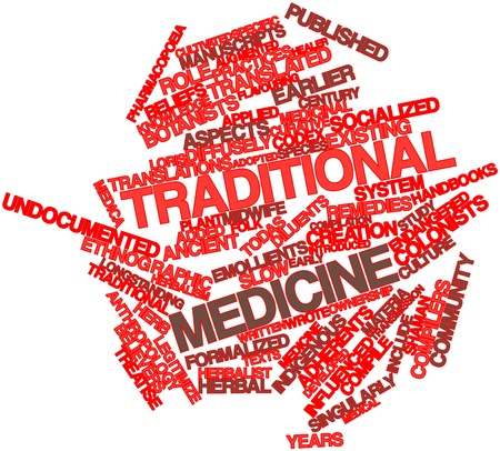herbalist: Abstract word cloud for Traditional medicine with related tags and terms