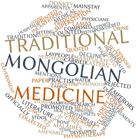 quoted: Abstract word cloud for Traditional Mongolian medicine with related tags and terms
