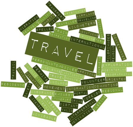 Abstract word cloud for Travel with related tags and terms Stock Photo - 16738949