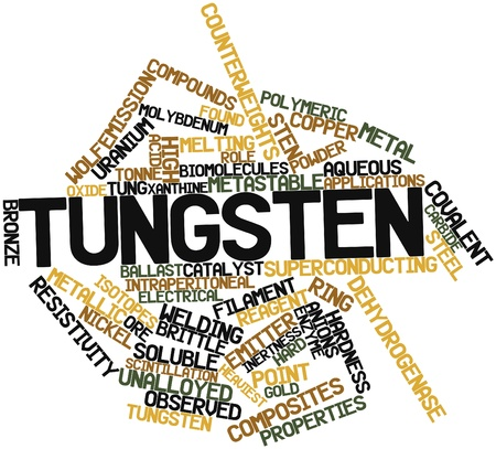 Abstract word cloud for Tungsten with related tags and terms Stock Photo - 16739021