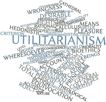 bioethics: Abstract word cloud for Utilitarianism with related tags and terms