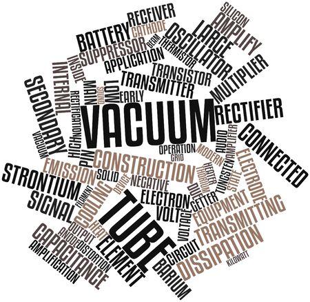 videocassette: Nube palabra abstracta para el tubo de vacío con etiquetas y términos relacionados