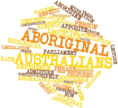 identifiable: Abstract word cloud for Aboriginal Australians with related tags and terms