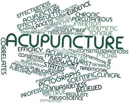 nausea: Abstract word cloud for Acupuncture with related tags and terms