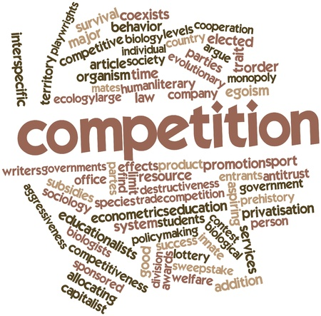 sociology: Abstract word cloud for Competition with related tags and terms