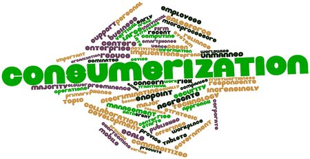 discriminating: Abstract word cloud for Consumerization with related tags and terms