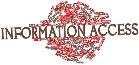 Abstract word cloud for Information access with related tags and terms Stock Photo - 16740001