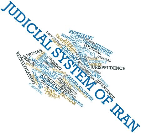 judicial system: Abstract word cloud for Judicial system of Iran with related tags and terms