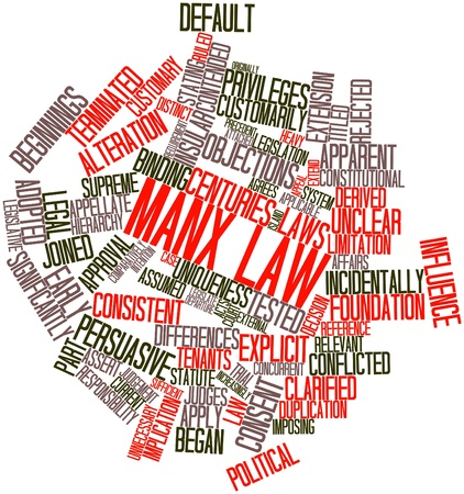 Abstract word cloud for Manx law with related tags and terms Stock Photo - 16740289