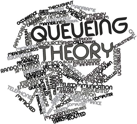 exponential: Abstract word cloud for Queueing theory with related tags and terms