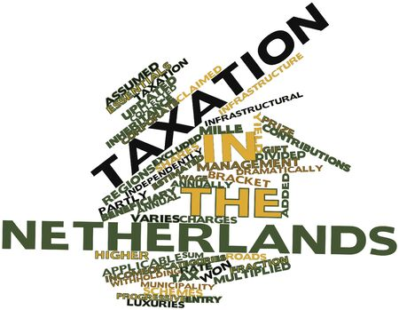 articles of furniture: Abstract word cloud for Taxation in the Netherlands with related tags and terms