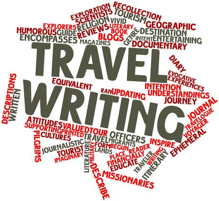 author: Abstract word cloud for Travel writing with related tags and terms