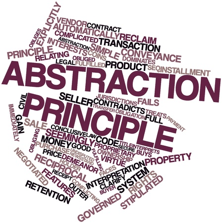 jurisdictions: Abstract word cloud for Abstraction principle with related tags and terms