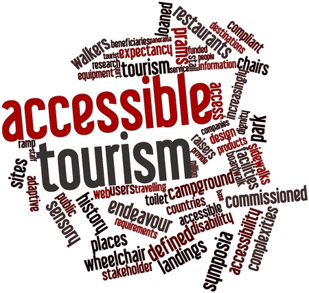 Abstract word cloud for Accessible tourism with related tags and terms Stock Photo - 16772805