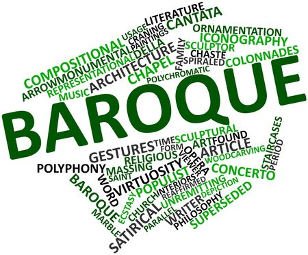 Abstract word cloud for Baroque with related tags and terms Stock Photo - 16772713