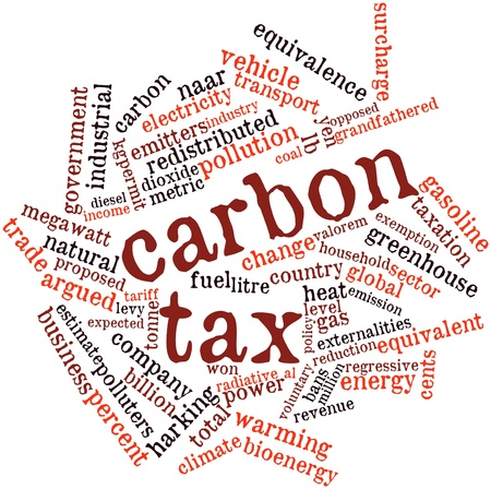 tariff: Abstract word cloud for Carbon tax with related tags and terms