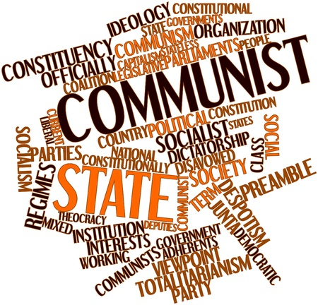 Abstract word cloud for Communist state with related tags and terms