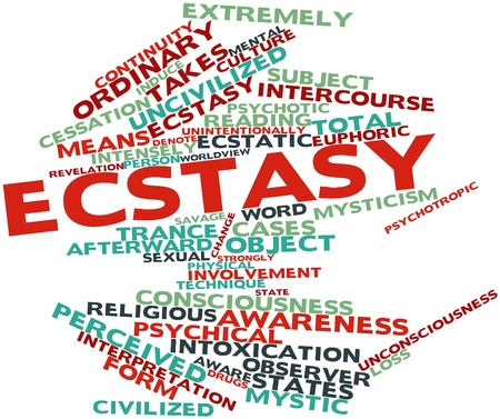 Abstract word cloud for Ecstasy with related tags and terms Stock Photo - 16772702