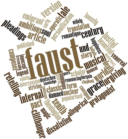 Abstract word cloud for Faust with related tags and terms Stock Photo - 16772807