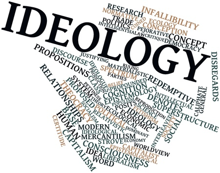 epistemology: Abstract word cloud for Ideology with related tags and terms