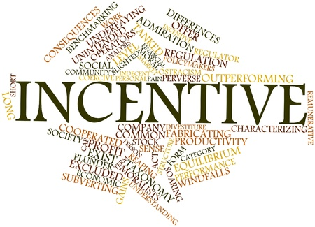 incumbent: Abstract word cloud for Incentive with related tags and terms
