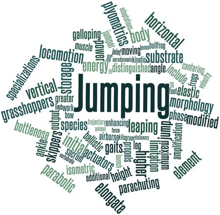 determinant: Abstract word cloud for Jumping with related tags and terms