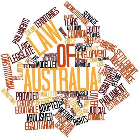parliaments: Word cloud astratto per legge di Australia con tag correlati e termini