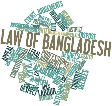 statutes: Abstract word cloud for Law of Bangladesh with related tags and terms