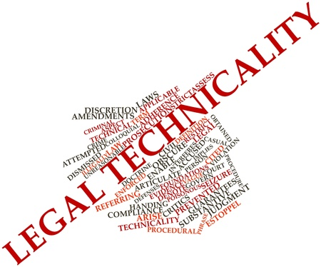Abstract word cloud for Legal technicality with related tags and terms Stock Photo - 16772685