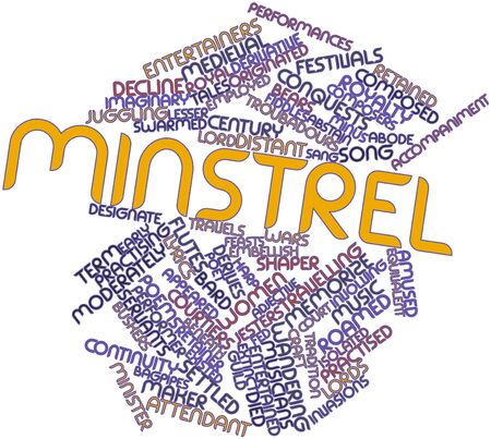 poems: Abstract word cloud for Minstrel with related tags and terms