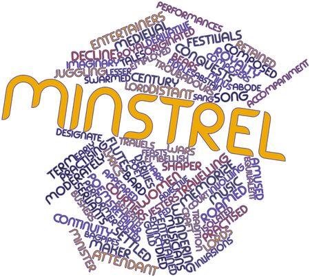 gaita: Nube palabra abstracta para Minstrel con etiquetas y términos relacionados