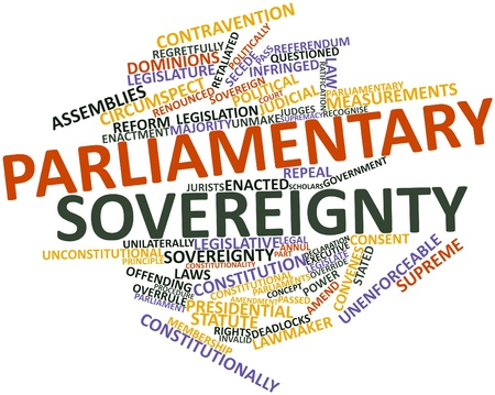democracies: Abstract word cloud for Parliamentary sovereignty with related tags and terms