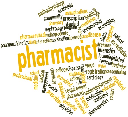 Abstract word cloud for Pharmacist with related tags and terms Stock Photo - 16772744