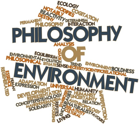 Abstract word cloud for Philosophy of environment with related tags and terms photo
